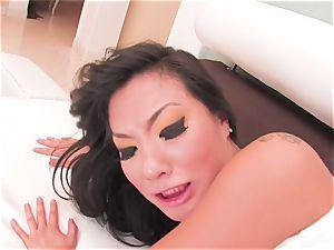 uber-sexy Asa Akira swallows his jizm