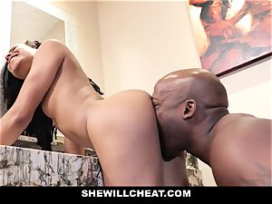 SheWillCheat - cuckold wifey ravages big black cock in douche