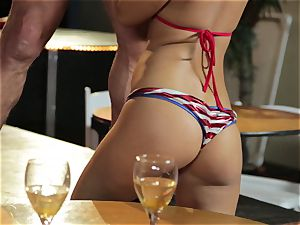 Asa Akira and Bridgette B give a special demonstrate