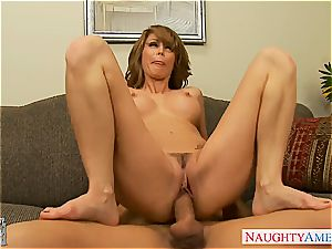 tatted doll with humungous bosoms, Monique Alexander, taking a ginormous trouser snake inside