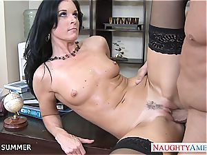 India Summer looks beautiful in high stilettos getting porked