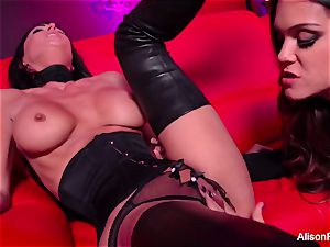 crimson apartment and warm strap-on act