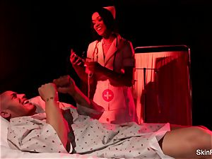 Behind the gigs with wonderful nurse skin Diamond
