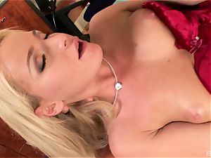 Pretty and slim tatted blondie Kathia Nobili