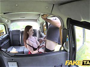 fake cab Olive flesh ginger-haired in lingerie