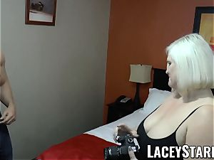 LACEYSTARR - GILF tempts ginormous dicked teddy into boning
