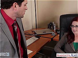 sandy-haired hotty in glasses Penny Pax fuck in the office