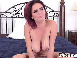 red-haired web cam babe Ashlee Graham cockriding