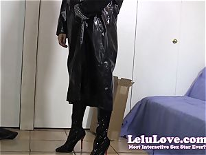 assistant gets home wears raincoat
