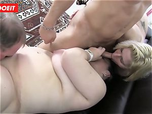 German fourway bang-out with ultra-kinky bbw grannies