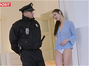 Immigration officer gets wet coochie instead of the visa