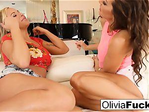 Olivia Austin and Abigail Mac drill
