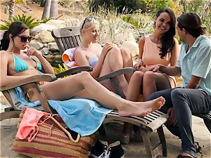 The Getaway Pt 3 demonstrating splendid lezzies Dillion Harper and Charlotte Stokely