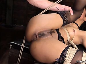 black takes immense man meat in the caboose bondage & discipline