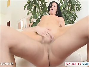 dark haired India Summer gets coochie poked