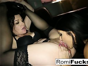 cool sub Romi lets tormentor Sovereign dominate her