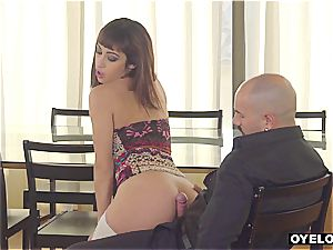 Latina seduced and poked by professor