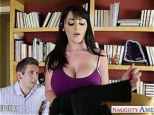 Sophie's massive butt in a tight miniskirt