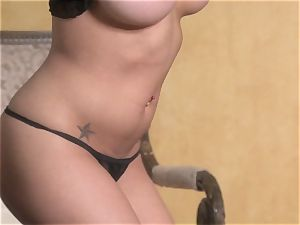 stellar starlet Jenna Presley takes out her humungous tits and shows off