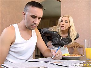 Ungrateful wifey Ashley Fires gets a mean ravage from her guy