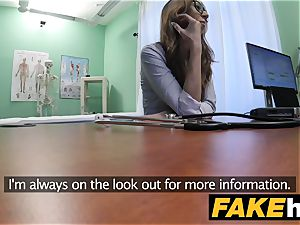 fake hospital mind-blowing reporter gets to the point with bj