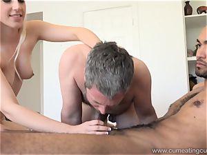 Niki Snow Makes husband gargle humungous ebony pink cigar