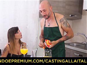 casting ALLA ITALIANA - super-hot Italian minx gets deep ass fucking