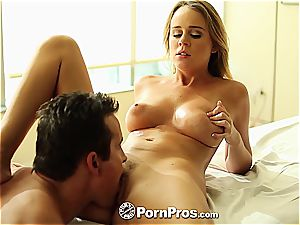 Alexis Adams uses her curves and twat