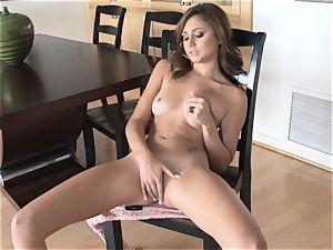 appetizing Ariana Marie erotic solo onanism