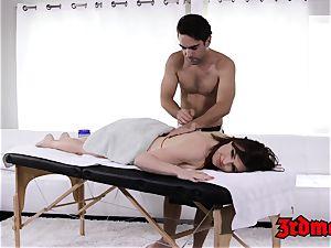 massage loving cougar Krissy gets her moist cunny slammed