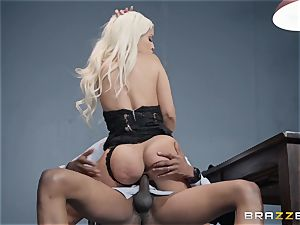 Bad bootie Bridgette B pounded by a throbbing ebony manhood