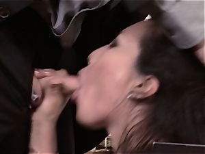 Asa Akira pounds edible manhood over the office desk