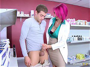 amateur man fucks splendid buxomy nurse Anna Bell Peaks in the pharmacy