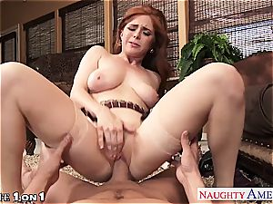 Ginger Penny Pax in point of view getting her muff rode