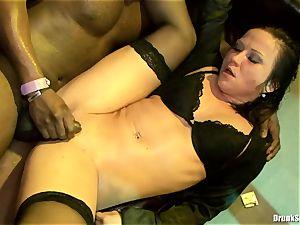 Bibi Fox lock fuck-hole the key of a super-fucking-hot boys with mates