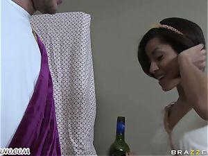 toasted Greek ultra-cutie takes man rod of her new boyfriend