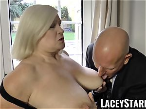 LACEYSTARR - naughtiest granny analled before popshot