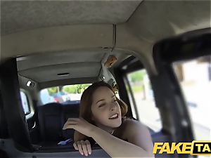 faux taxi red-haired gets sloppy with future sugar parent