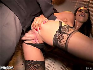 Romi Rain - unbelievable steaming unexperienced pornography in the street