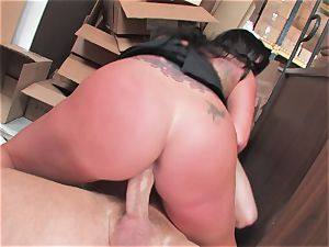 buxom hoe Kerry Louise gets stuffed rock-hard and earns a enormous load of super-fucking-hot jizm