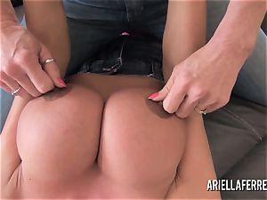 massive tit playtime with Ariella Ferrera and Deauxma