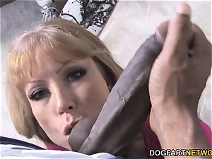 big-chested mother Darla Crane Takes big black cock In Front Of Her son