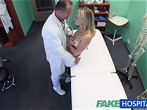 FakeHospital lovely ash-blonde patient gets cooch examination