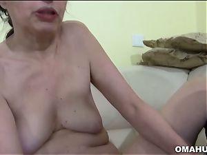 Mature grandma loves to plow rigid with fake penis