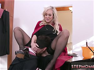 milf 2 young first-ever time Halloween off the hook With A 3 way