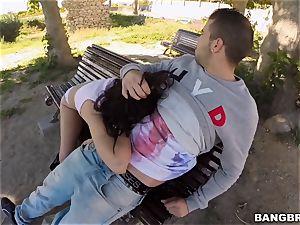 penetrating Ava Dalush outside