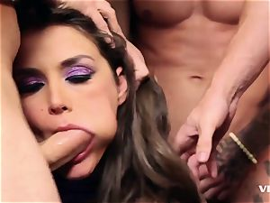 Allie Haze gasping those 4 cocks In Here