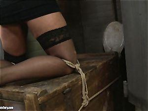 Kathia Nobili spanking a super-hot honey in public restroom