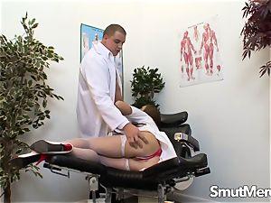 Nurse Cate Harrington banged by doc