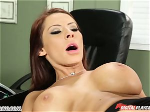 Mature stud tests his new secretary in office